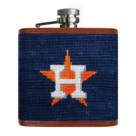 Smathers and Branson Houston Astros Needlepoint Flask