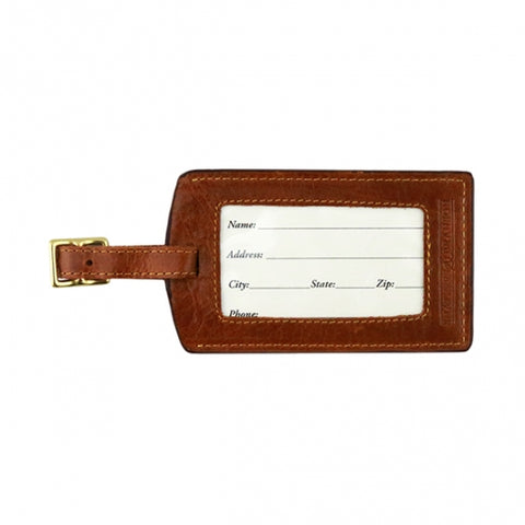 TCU Needlepoint Luggage Tag