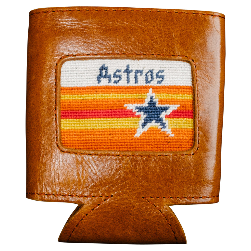Houston Astros Cooperstown Needlepoint Can Cooler