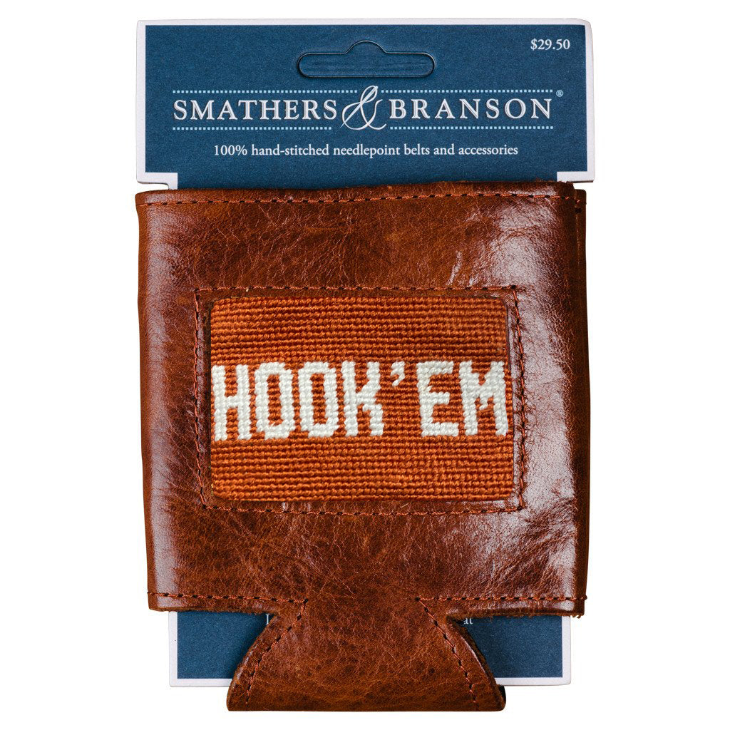 smathers_branson_Hook_em_needlepoint_can_cooler