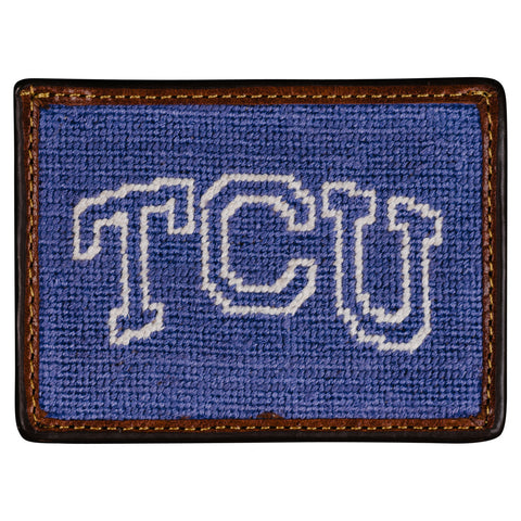 TCU Needlepoint Card Wallet