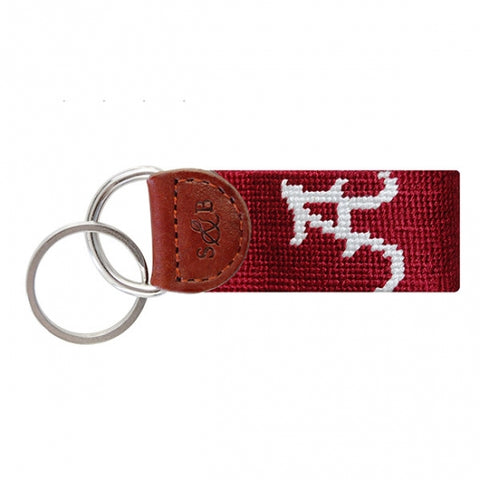 Arkansas Needlepoint Key Fob