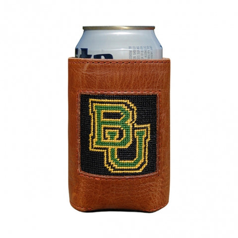 Baylor Needlepoint Can Cooler
