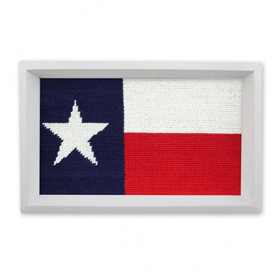 Big Texas Flag Needlepoint Valet Tray