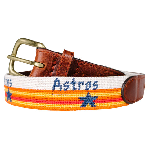 Houston Astros Cooperstown Children's Needlepoint Belt