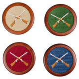 Smathers & Branson Shotguns Needlepoint Coaster Set