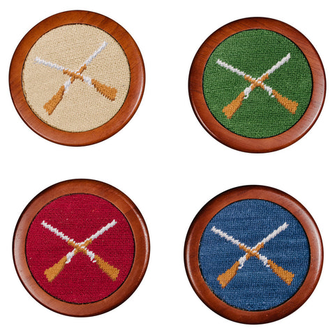 Shotguns Needlepoint Coaster Set