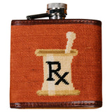 Smathers and Branson Doctor's Orders Needlepoint Flask