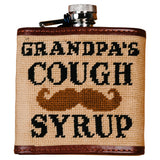 Smathers and Branson Grandpa's Cough Syrup Needlepoint Flask