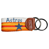 Houston Astros Cooperstown Needlepoint Key Fob