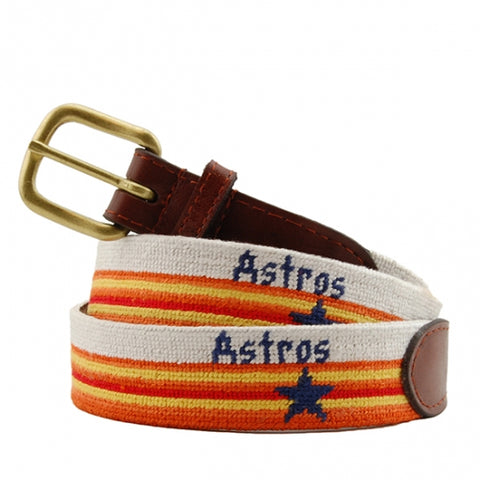 Houston Astros Cooperstown Needlepoint Belt
