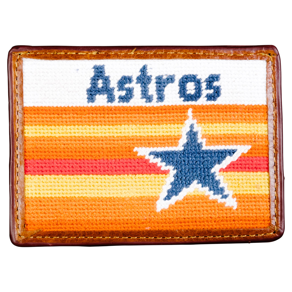 Houston Astros Cooperstown Needlepoint Card Wallet