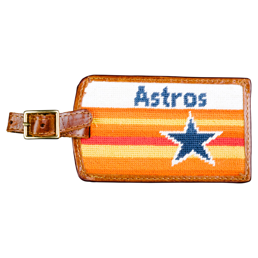 Houston Astros Cooperstown Needlepoint Luggage Tag
