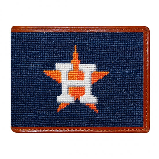 Smathers & Branson Houston Astros Needlepoint Bi-Fold Wallet
