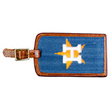 Houston Astros Needlepoint Luggage Tag