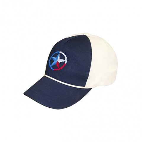 Lone Star Rope Snapback Hat - Navy/White