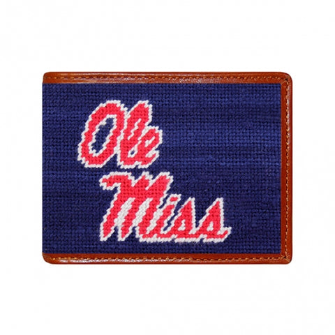 Ole Miss Needlepoint Bi-Fold Wallet