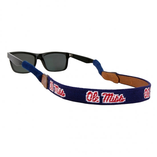 Ole Miss Needlepoint Sunglass Straps
