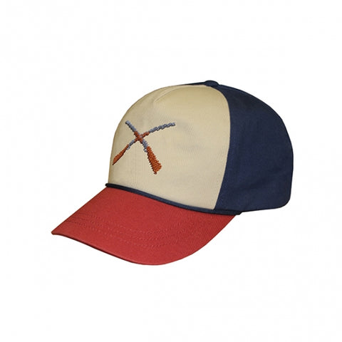 Yellow Lab Needlepoint Hat - Navy