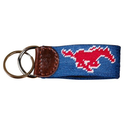 SMU Needlepoint Key Fob
