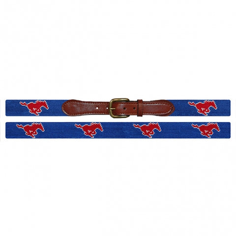 SMU Needlepoint Belt