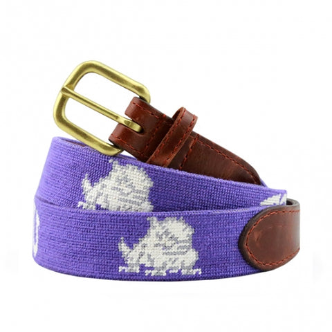 TCU Needlepoint Belt