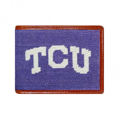 TCU Needlepoint Bi-Fold Wallet