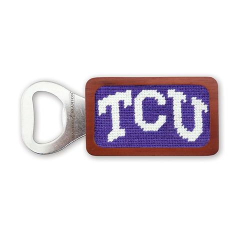 TCU Needlepoint Bottle Opener