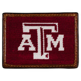 Smathers & Branson Texas A&M Needlepoint Card Wallet