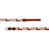 Smathers & Branson Texas Flag Needlepoint Belt