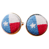 Smathers & Branson Texas Flag Needlepoint Cufflinks