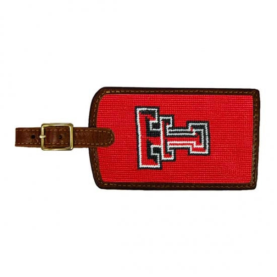 Texas Tech Needlepoint Luggage Tag