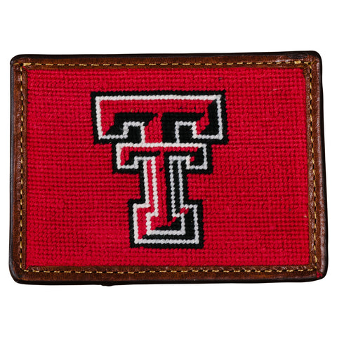 Texas Tech Needlepoint Card Wallet