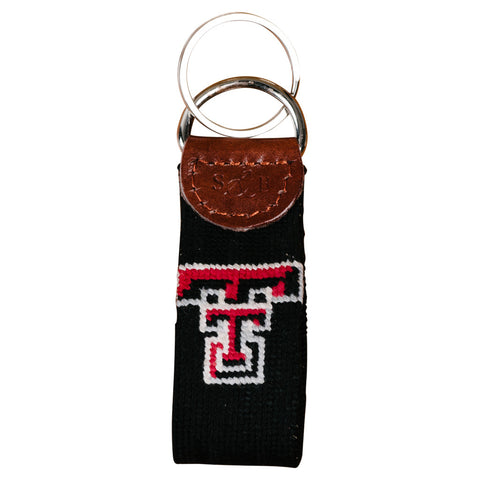 Texas Tech Needlepoint Key Fob
