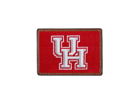University of Houston Needlepoint Card Wallet