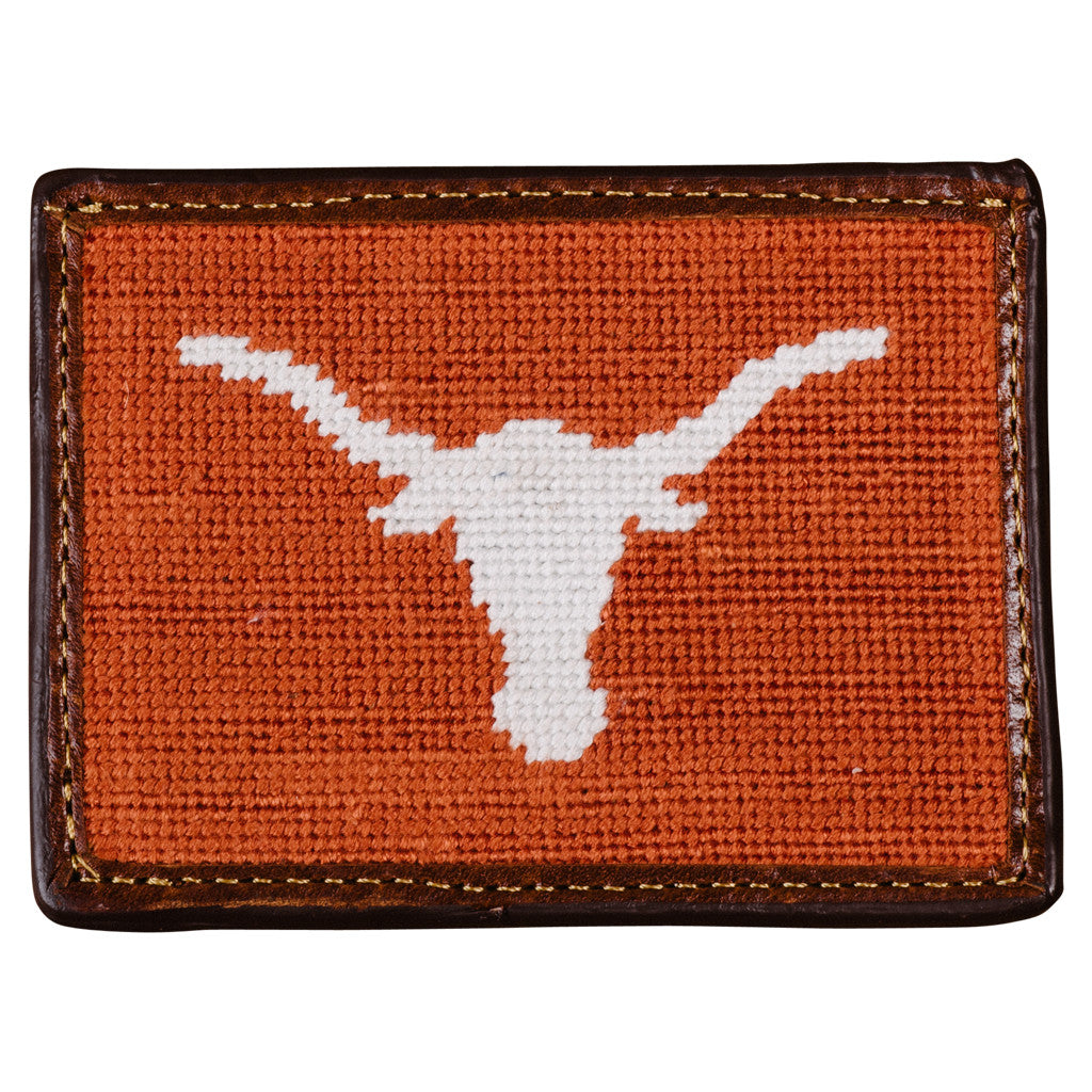 Smathers & Branson University of Texas Longhorns Needlepoint Card Wallet