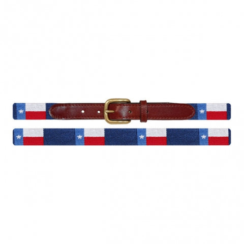 Texas Flag Children's Needlepoint Belt