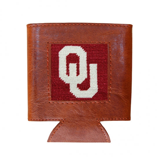 Smathers & Branson Oklahoma University Needlepoint Can Cooler