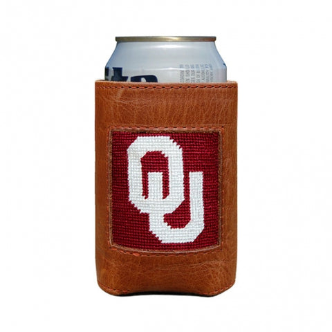Oklahoma Needlepoint Can Cooler