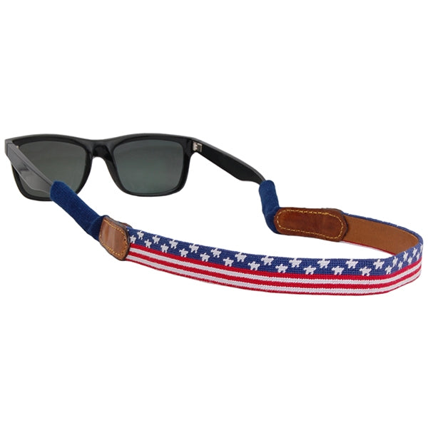 Old Glory Needlepoint Sunglass Straps