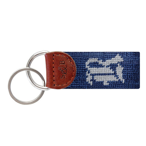 Rice University Needlepoint Key Fob