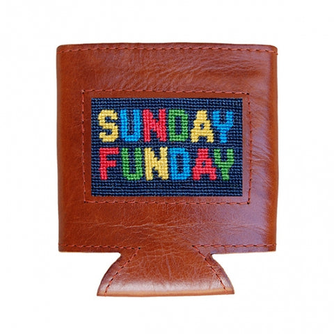 Sunday Funday Needlepoint Can Cooler