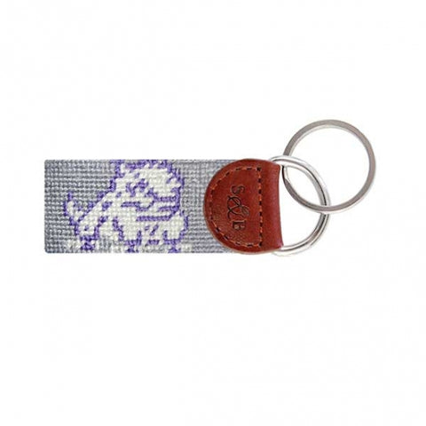 TCU Needlepoint Key Fob - Grey