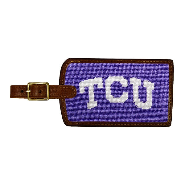 Smathers & Branson TCU Needlepoint Luggage Tag