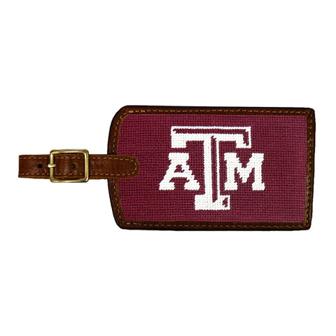 Texas A&M Needlepoint Luggage Tag