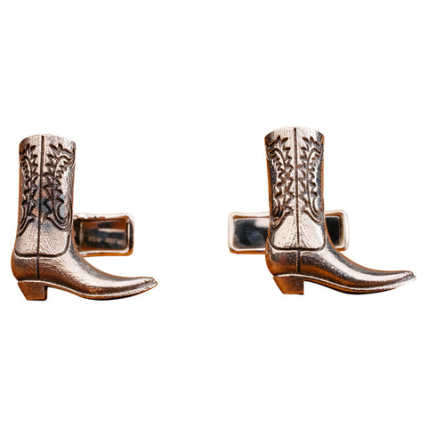 Sterling Boot Cufflinks
