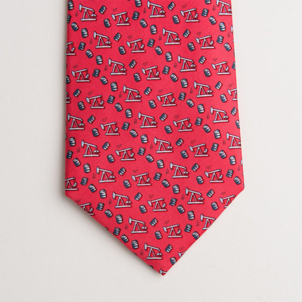 Thirsty Birds Tie - Red - Extra Long