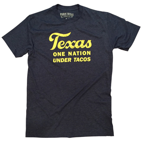 Texas One Nation Under Tacos T-Shirt - Navy