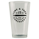 Come & Take It Pint Beer Glass