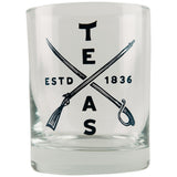 Texas Sword & Rifle Whiskey Rocks Glass